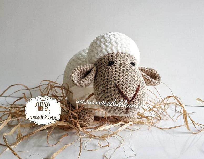 Badenin Hobi Evi Bade Amigurumi Kuzu Yastık Fiyatı   605x776